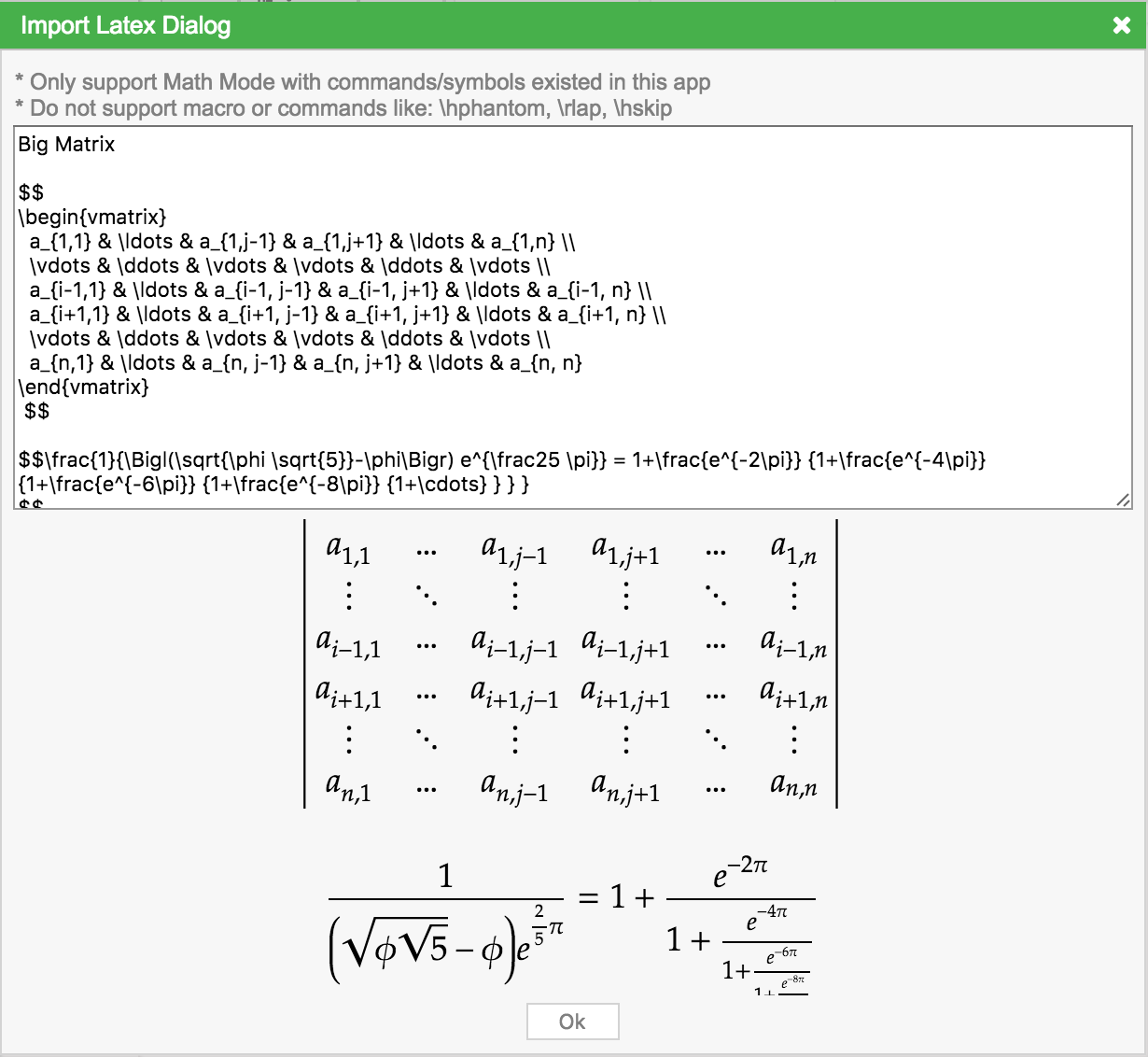 Mathcha Online Math Editor