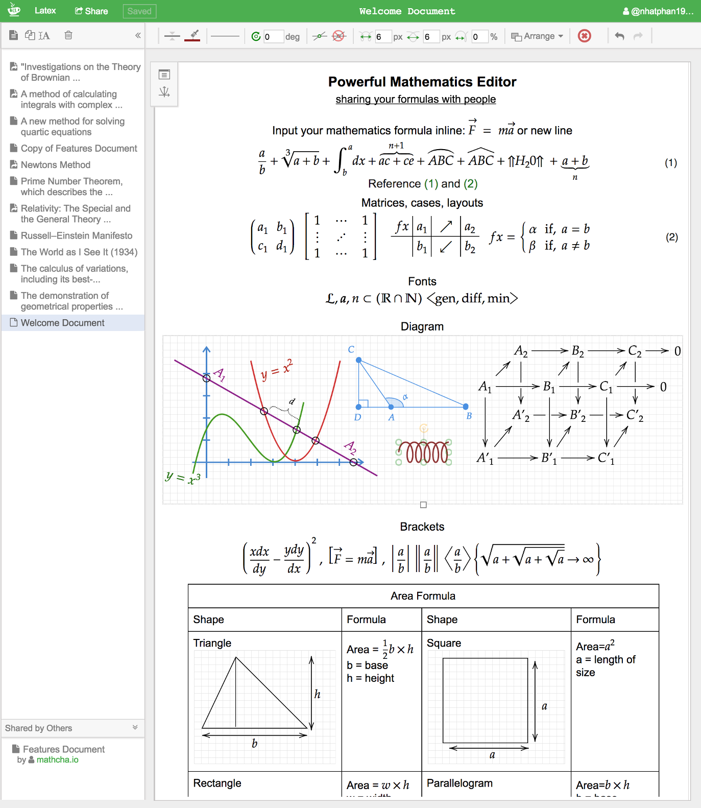 Mathcha online math editor full view of mathematics editor ccuart Image collections
